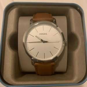 Brand New Leather Fossil Watch